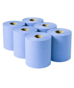 Blue Centrefeed Rolls 2 Ply 100m (Case of 6)