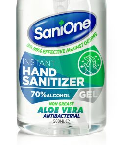 Alcohol Antibacterial gel 500ml Sanitiser Aloe Vera Gel 70% non greasy