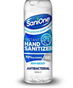 Alcohol Hand Sanitiser Gel Pump Sanione 100ml Normal 70%