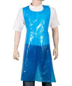 Blue disposable apron x 150
