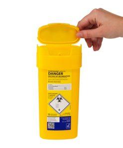 DD509YL Sharpsguard Yellow 0.6 Litre Sharps Bin
