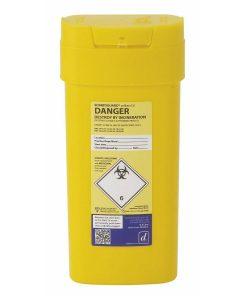 Daniels Sharpsguard Yellow 0.6 Litre Sharps Bin (Single) DD509YL